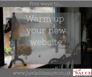 Warm up your new website
